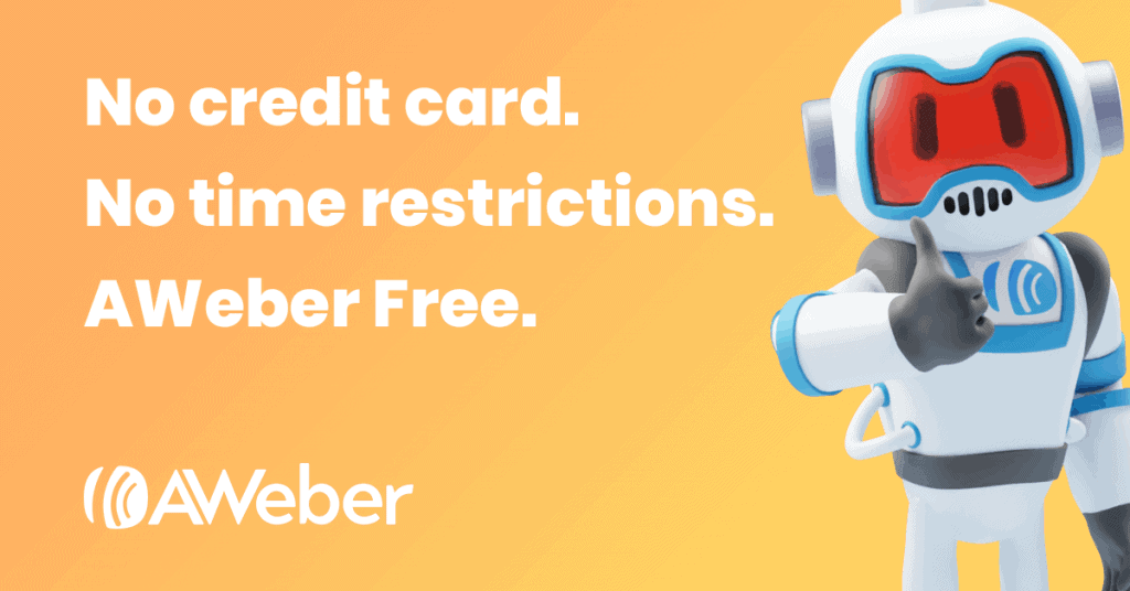 Aweber free account banner
